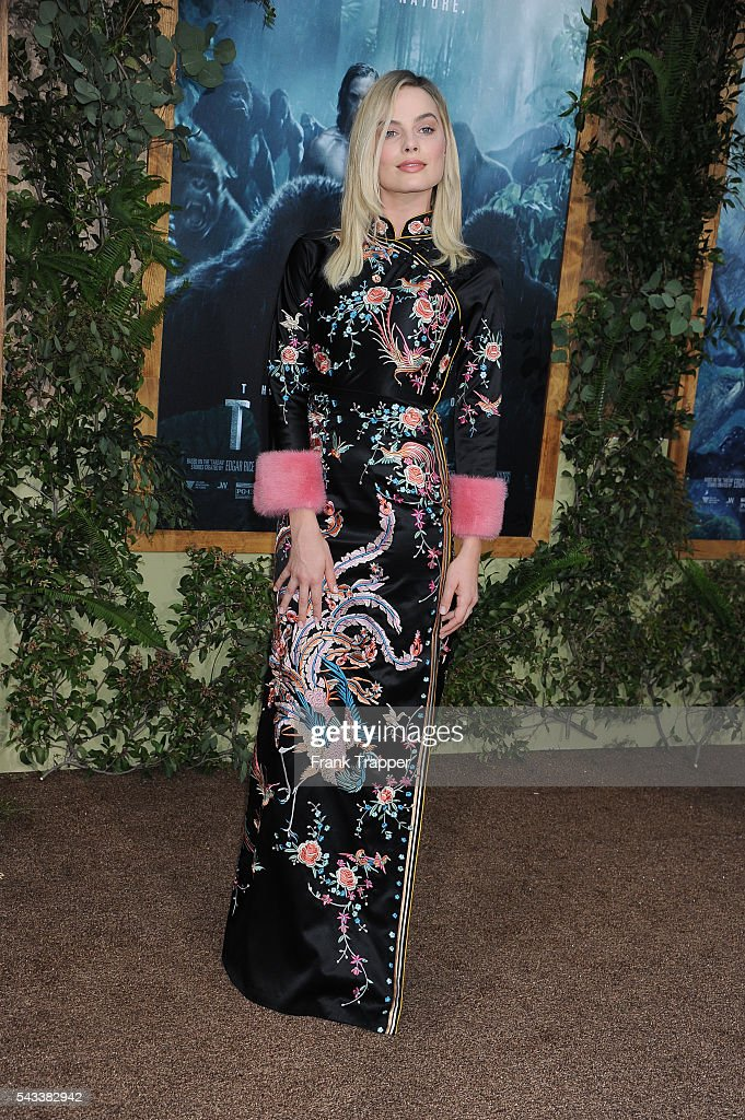 Actress <a gi-track='captionPersonalityLinkClicked' href=/galleries/search?phrase=Margot+Robbie&family=editorial&specificpeople=5781742 ng-click='$event.stopPropagation()'>Margot Robbie</a> attends the premiere of Warner Bros. Pictures' 'The Legend Of Tarzan' held at the DolbyTheater on June 27, 2016 in Hollywood, California.