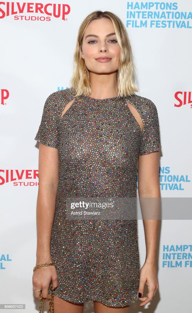 Actress Margot Robbie attends the red carpet for ' I, Tonya' at Guild Hall during Hamptons International Film Festival 2017 - Day Four on October 8, 2017 in East Hampton, New York.