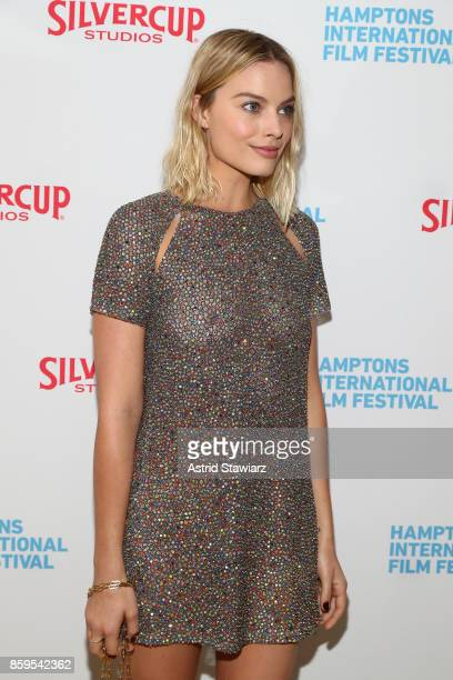 Actress Margot Robbie attends the red carpet for ' I Tonya' at Guild Hall during Hamptons International Film Festival 2017 Day Four on October 8 2017...