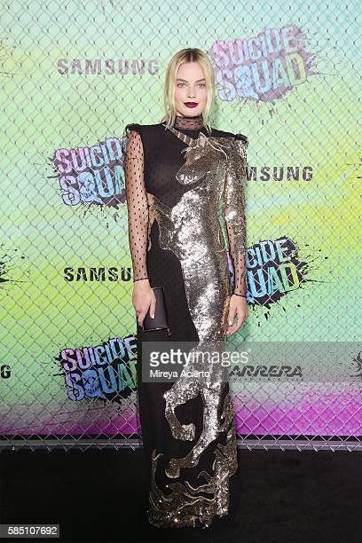 Actress Margot Robbie attends the 'Suicide Squad' World Premiere at The Beacon Theatre on August 1 2016 in New York City