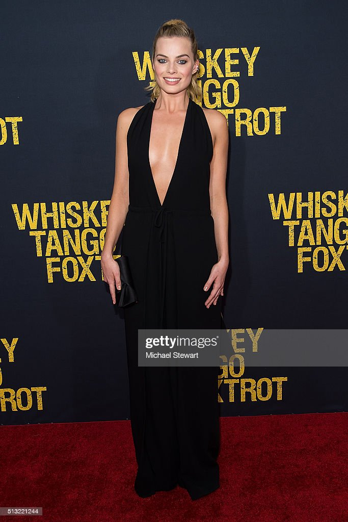 Actress Margot Robbie attends the 'Whiskey Tango Foxtrot' World Premiere at AMC Loews Lincoln Square 13 theater on March 1, 2016 in New York City.