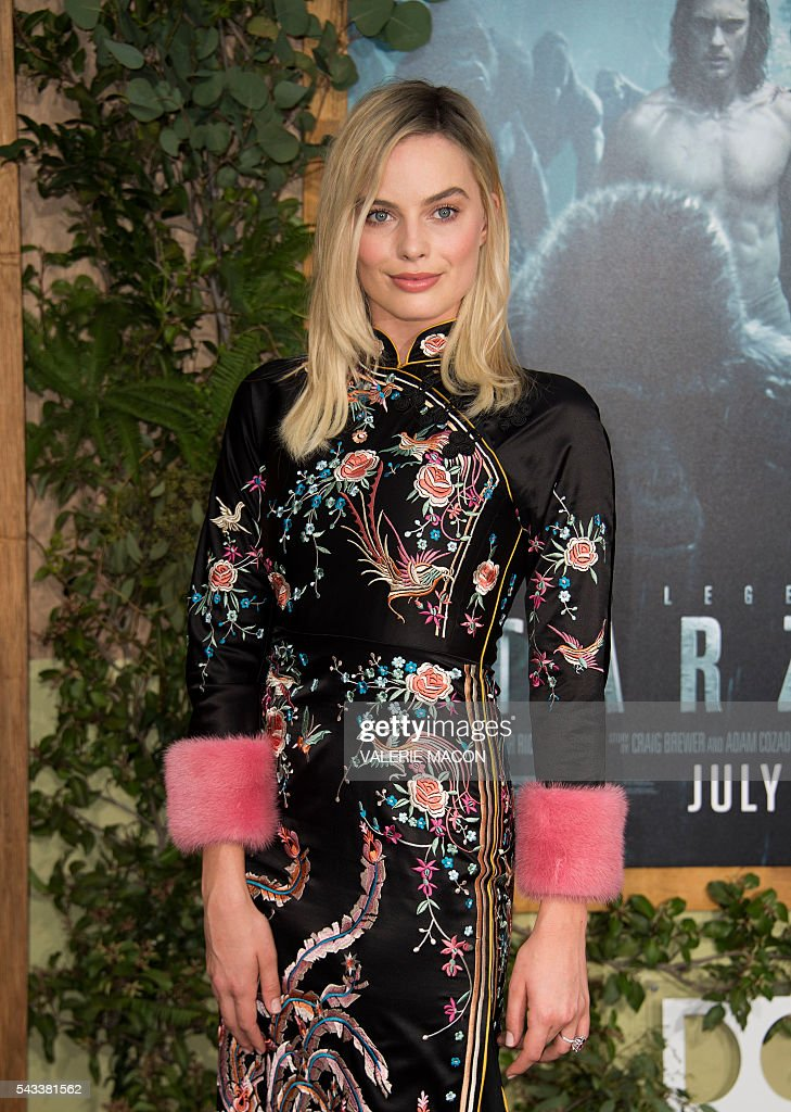 Actress Margot Robbie attends the world premiere of 'TheLegend of Tarzan' in Hollywood, California, on June 27, 2016. / AFP / VALERIE