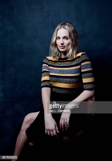 Actress Margot Robbie from the film 'I Tonya' poses for a portrait at the 2017 Toronto International Film Festival for Los Angeles Times on September...