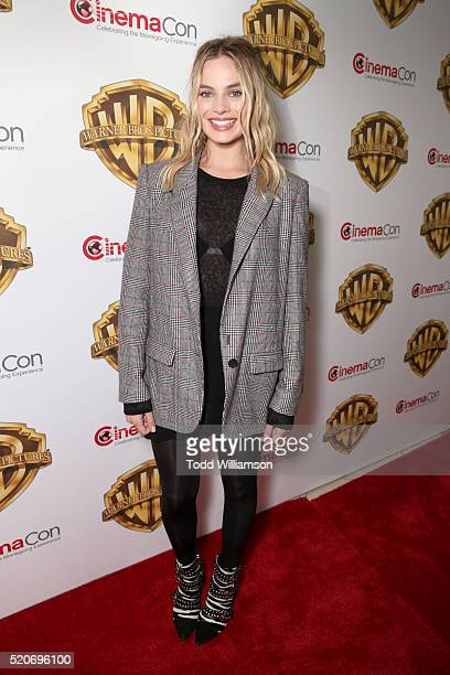 "Actress Margot Robbie of 'Suicide Squad' attends CinemaCon 2016 Warner Bros Pictures Invites You to ""The Big Picture"" an Exclusive Presentation..."