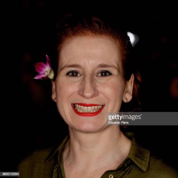 Actress Mari Paz Sayago attends the 'El Pelotari y la Fallera' premiere at Callao cinema on April 5 2017 in Madrid Spain
