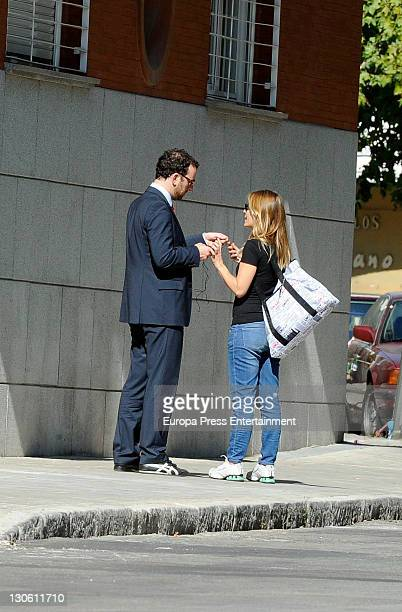 Actress Maria Adanez and husband David Murphy are seen looking for a new house on October 26 2011 in Madrid Spain