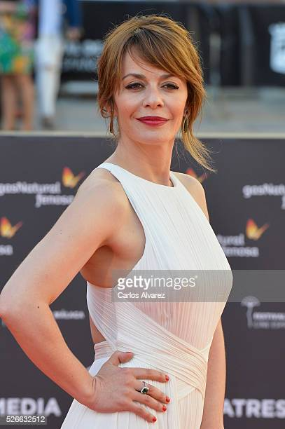 Actress Maria Adanez attends 'Nuestros Amantes' premiere at the Cervantes Teather during the 19th Malaga Film Festival on April 30 2016 in Malaga...