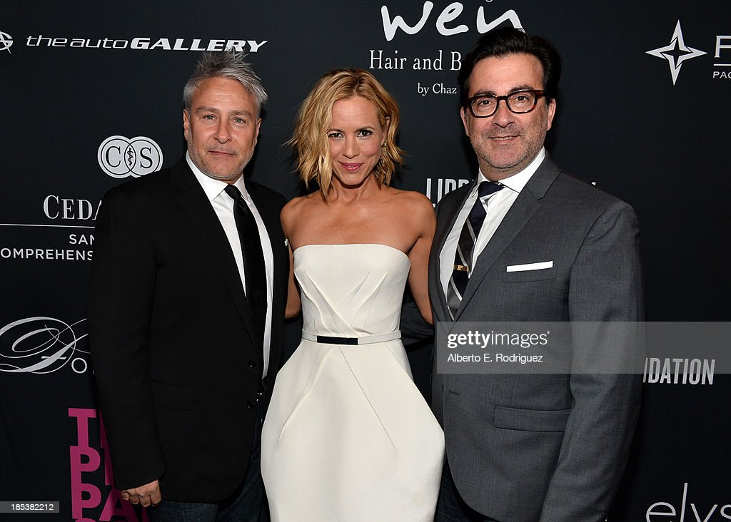 Actress Maria Bello and designers Ken Kaufman and Isaac Franco of KAUFMANFRANCO attend Elyse Walker Presents The Pink Party 2013 hosted by Anne...