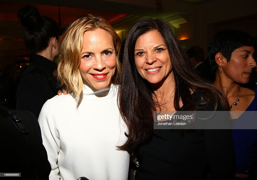 Actress <a gi-track='captionPersonalityLinkClicked' href=/galleries/search?phrase=Maria+Bello&family=editorial&specificpeople=201770 ng-click='$event.stopPropagation()'>Maria Bello</a> (L) and event chair Dr. Susan Smalley attend Equality Now presents 'Make Equality Reality' at Montage Hotel on November 4, 2013 in Los Angeles, California.