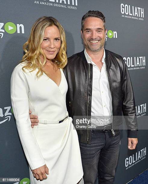 Actress Maria Bello and Head of Drama Series for Amazon Studios Morgan Wandell attend the Amazon red carpet premiere screening of original drama...