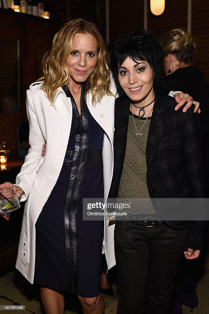 Actress Maria Bello (L) and Joan Jett attend Lifetime's 'BIG DRIVER' red carpet screening with Maria Bello, Olympia Dukakis and Joan Jett on October 15, 2014 in New York City.