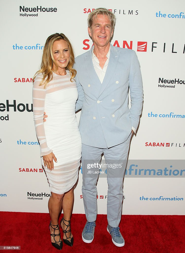 Actress <a gi-track='captionPersonalityLinkClicked' href=/galleries/search?phrase=Maria+Bello&family=editorial&specificpeople=201770 ng-click='$event.stopPropagation()'>Maria Bello</a> and <a gi-track='captionPersonalityLinkClicked' href=/galleries/search?phrase=Matthew+Modine&family=editorial&specificpeople=211363 ng-click='$event.stopPropagation()'>Matthew Modine</a> attend the premiere of Saban Films' 'The Confirmation' on March 15, 2016 in Los Angeles, California.