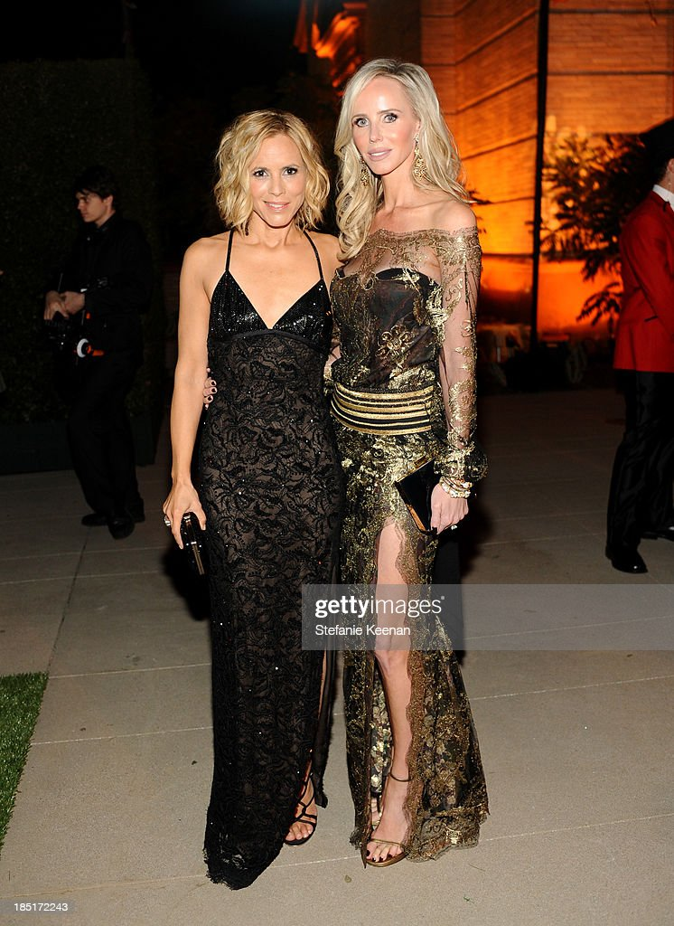 Actress Maria Bello (L) and Vanessa Getty, wearing Ferragamo, attend the Wallis Annenberg Center for the Performing Arts Inaugural Gala presented by Salvatore Ferragamo at the Wallis Annenberg Center for the Performing Arts on October 17, 2013 in Beverly Hills, California.