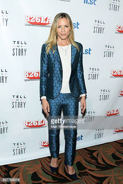 Actress Maria Bello arrives at 826LA's Tell Me A Story at The Wiltern on June 2 2016 in Los Angeles California