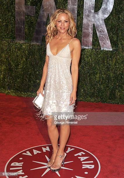 Actress Maria Bello arrives at the 2010 Vanity Fair Oscar Party hosted by Graydon Carter held at Sunset Tower on March 7 2010 in West Hollywood...