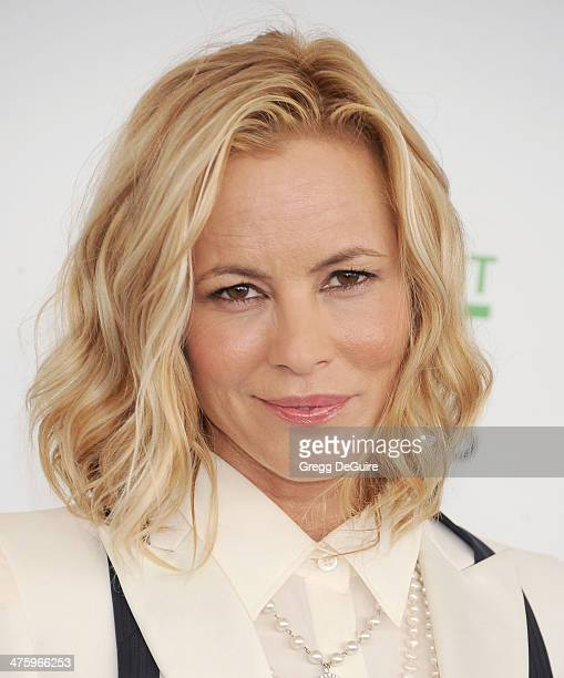 Actress Maria Bello arrives at the 2014 Film Independent Spirit Awards on March 1 2014 in Santa Monica California
