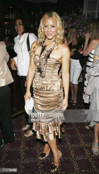 Actress Maria Bello arrives at the celebration for the 40th anniversary of La Dolce Vita Restaurant on June 22 2006 in Beverly Hills California