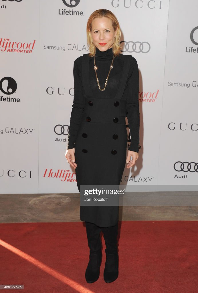 Actress Maria Bello arrives at The Hollywood Reporter's 22nd Annual Women In Entertainment Breakfast 2013 at Beverly Hills Hotel on December 11, 2013 in Beverly Hills, California.