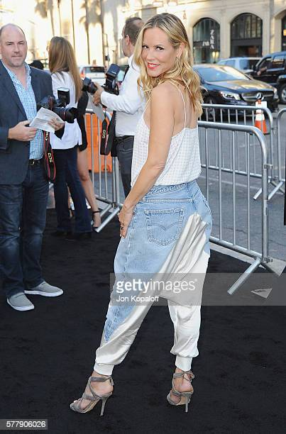 Actress Maria Bello arrives at the Los Angeles Premiere 'Lights Out' at TCL Chinese Theatre on July 19 2016 in Hollywood California