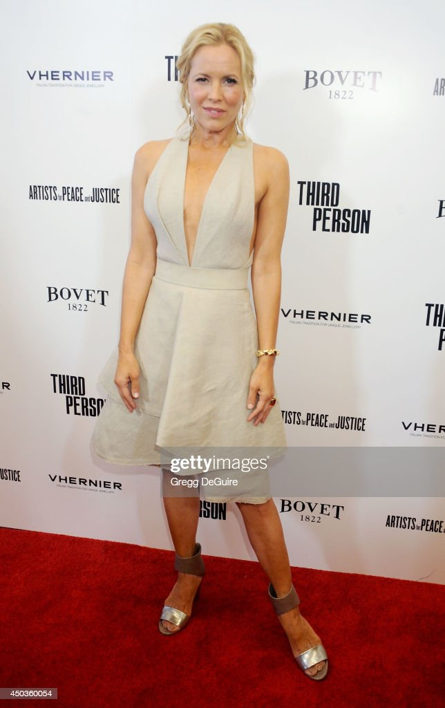 Actress <a gi-track='captionPersonalityLinkClicked' href=/galleries/search?phrase=Maria+Bello&family=editorial&specificpeople=201770 ng-click='$event.stopPropagation()'>Maria Bello</a> arrives at the Los Angeles premiere of 'Third Person' at Pickford Center for Motion Study on June 9, 2014 in Hollywood, California.