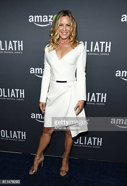 Actress Maria Bello arrives at the premiere of Amazon's 'Goliath' at The London West Hollywood on September 29 2016 in West Hollywood California