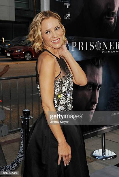 Actress Maria Bello arrives at the 'Prisoners' Los Angeles Premiere at the Academy of Motion Picture Arts and Sciences on September 12 2013 in...