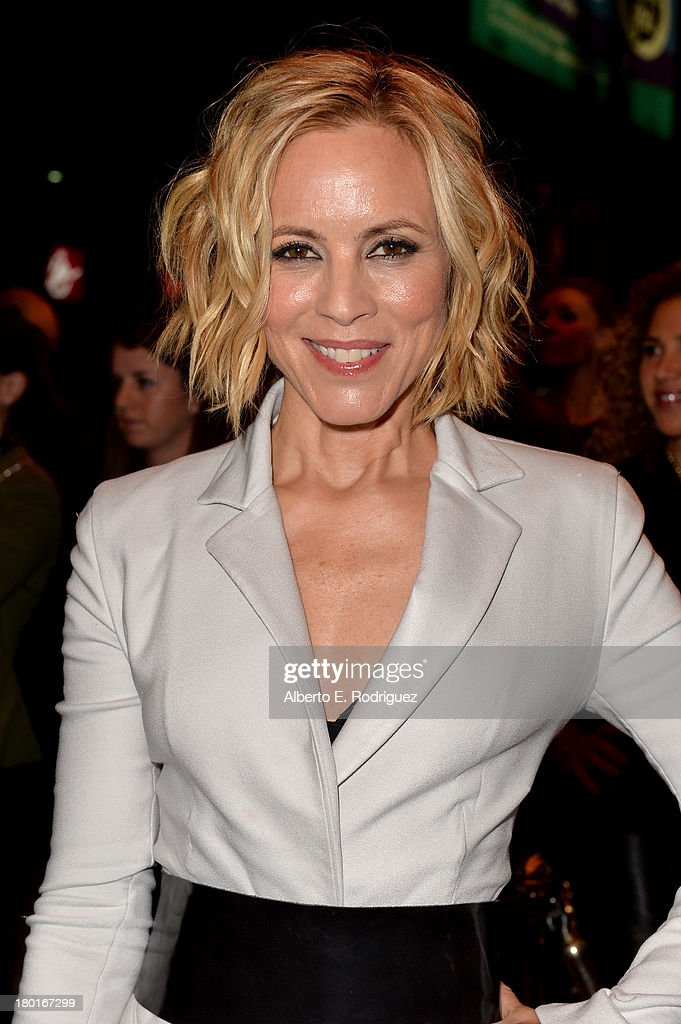Actress <a gi-track='captionPersonalityLinkClicked' href=/galleries/search?phrase=Maria+Bello&family=editorial&specificpeople=201770 ng-click='$event.stopPropagation()'>Maria Bello</a> arrives at the 'Third Person' Premiere during the 2013 Toronto International Film Festival at The Elgin on September 9, 2013 in Toronto, Canada.