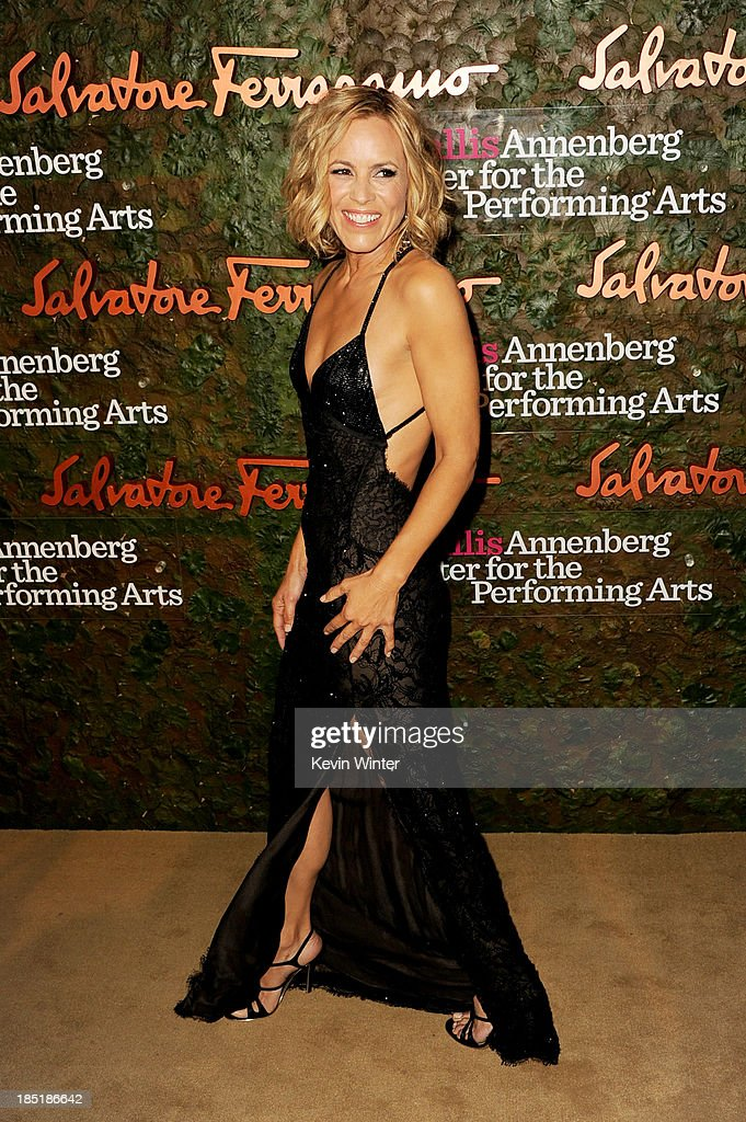 Actress Maria Bello arrives at the Wallis Annenberg Center For The Performing Arts Gala at the Wallis Annenberg Center For The Performing Arts on October 17, 2013 in Beverly Hills, California.