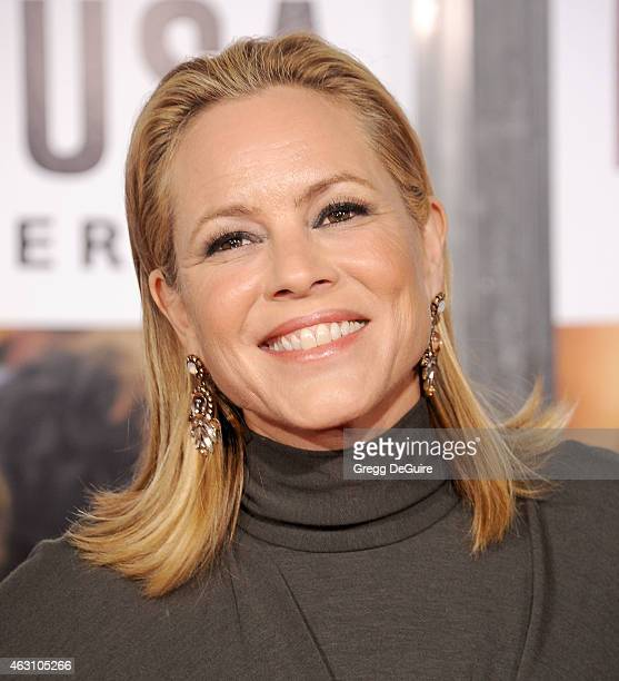 Actress Maria Bello arrives at the World Premiere of Disney's 'McFarland USA' at the El Capitan Theatre on February 9 2015 in Hollywood California