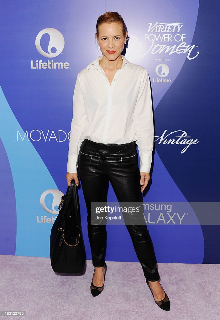 Actress <a gi-track='captionPersonalityLinkClicked' href=/galleries/search?phrase=Maria+Bello&family=editorial&specificpeople=201770 ng-click='$event.stopPropagation()'>Maria Bello</a> arrives at Variety's 5th Annual Power Of Women Event at the Beverly Wilshire Four Seasons Hotel on October 4, 2013 in Beverly Hills, California.