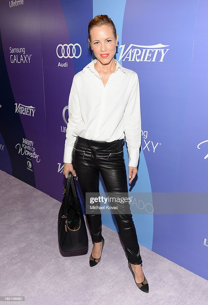 Actress <a gi-track='captionPersonalityLinkClicked' href=/galleries/search?phrase=Maria+Bello&family=editorial&specificpeople=201770 ng-click='$event.stopPropagation()'>Maria Bello</a> attend Variety's 5th Annual Power of Women event presented by Lifetime at the Beverly Wilshire Four Seasons Hotel on October 4, 2013 in Beverly Hills, California.