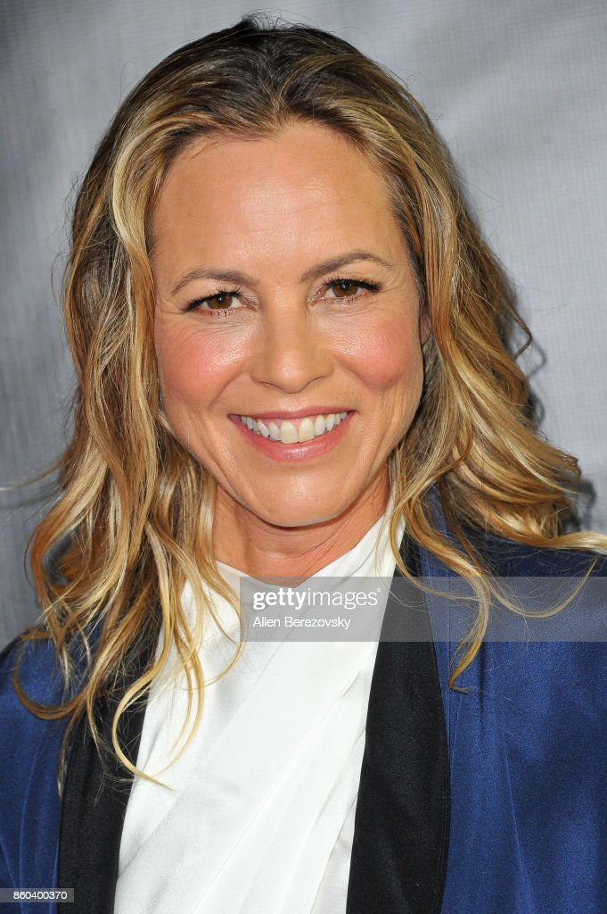 Actress Maria Bello attends the 4th Annual CineFashion Film Awards at El Capitan Theatre on October 8, 2017 in Los Angeles, California.