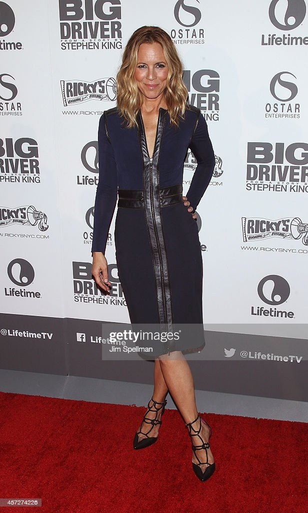 Actress Maria Bello attends the 'Big Driver' New York Premiere at Angelika Film Center on October 15, 2014 in New York City.