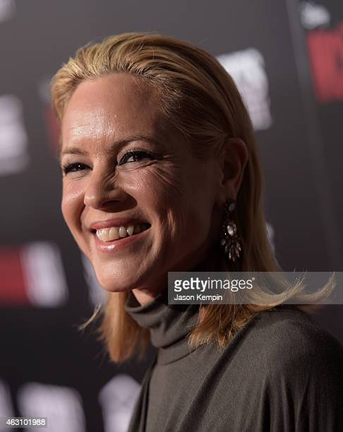 Actress Maria Bello attends the premiere of Disney's 'McFarland USA' at the El Capitan Theatre on February 9 2015 in Hollywood California