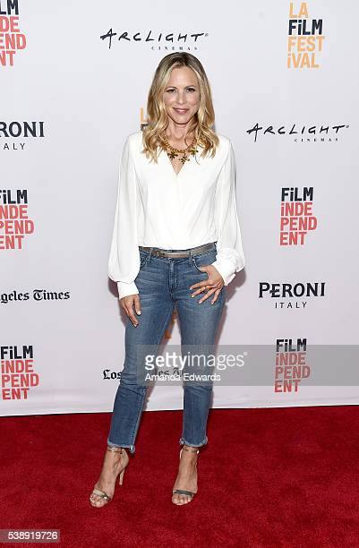 Actress Maria Bello attends the premiere of 'Lights Out' during the 2016 Los Angeles Film Festival at Arclight Cinemas Culver City on June 8 2016 in...