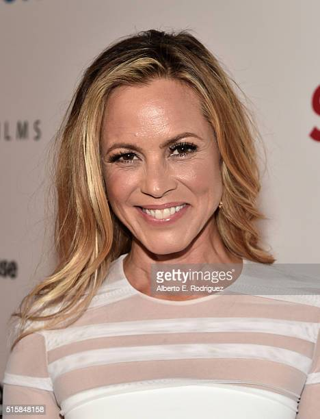 Actress Maria Bello attends the premiere of Saban Films' 'The Confirmation' on March 15 2016 in Los Angeles California