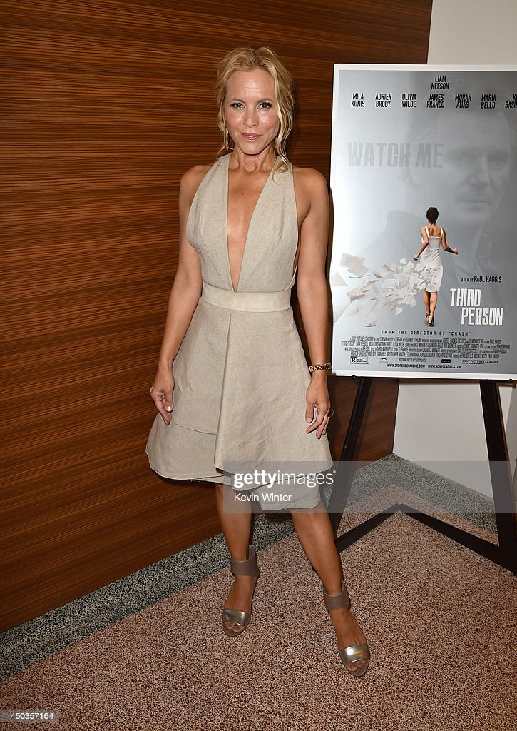 Actress <a gi-track='captionPersonalityLinkClicked' href=/galleries/search?phrase=Maria+Bello&family=editorial&specificpeople=201770 ng-click='$event.stopPropagation()'>Maria Bello</a> attends the premiere of Sony Picture Classics' 'Third Person' at Linwood Dunn Theater at the Pickford Center for Motion Study on June 9, 2014 in Hollywood, California.