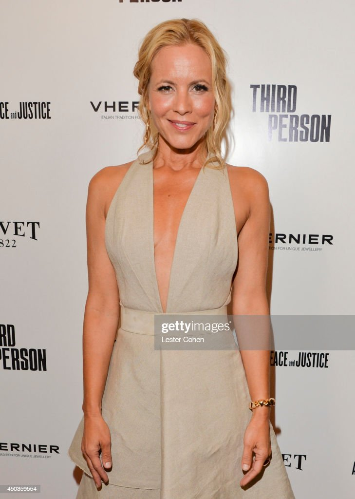 Actress <a gi-track='captionPersonalityLinkClicked' href=/galleries/search?phrase=Maria+Bello&family=editorial&specificpeople=201770 ng-click='$event.stopPropagation()'>Maria Bello</a> attends the 'Third Person' Los Angeles Premiere at Pickford Center for Motion Study on June 9, 2014 in Hollywood, California.