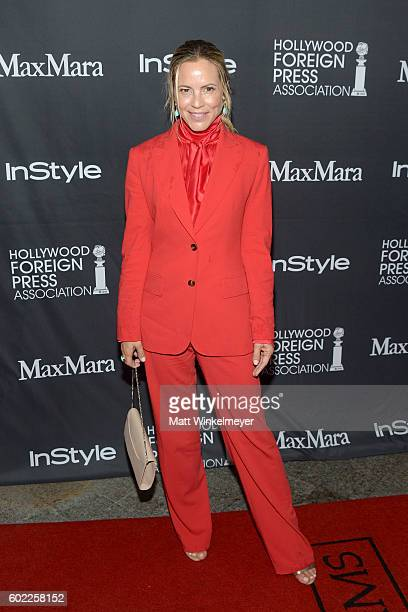 Actress Maria Bello attends the TIFF/InStyle/HFPA Party during the 2016 Toronto International Film Festival at Windsor Arms Hotel on September 10...