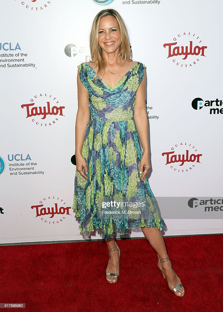 Actress Maria Bello attends UCLA IOES celebration of the Champions of our Planet's Future on March 24, 2016 in Beverly Hills, California.