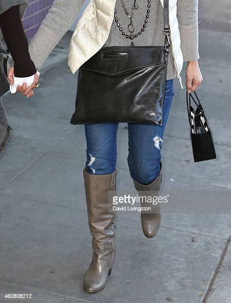 Actress Maria Bello holiday shops on Montana Ave on December 23 2014 in Santa Monica California