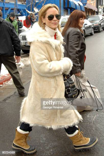 Actress Maria Bello seen around town at the 2008 Sundance Film Festival on January 19 2008 in Park City Utah
