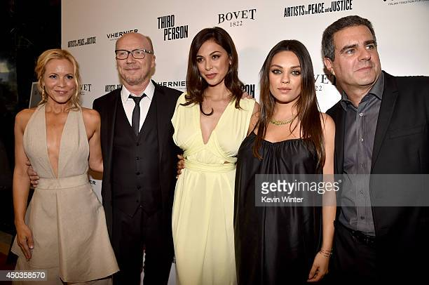 Actress Maria Bello writer/director Paul Haggis actresses Moran Atias Mila Kunis and producer Michael Nozik attend the premiere of Sony Picture...