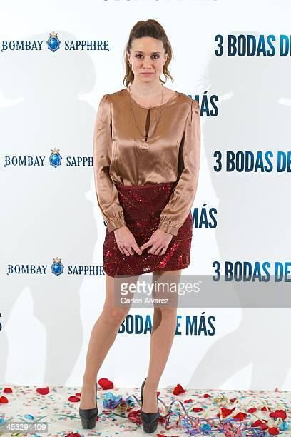 Actress Maria Botto attends '3 Bodas de Mas' photocall at the Hesperia Hotel on December 3 2013 in Madrid Spain
