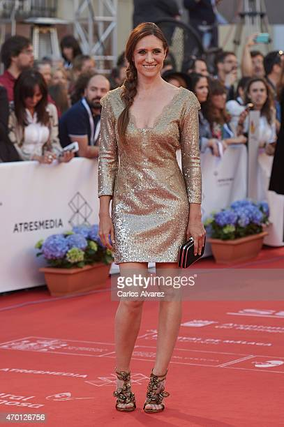 Actress Maria Botto attends the 18th Malaga Film Festival opening ceremony at the Cervantes Theater on April 17 2015 in Malaga Spain