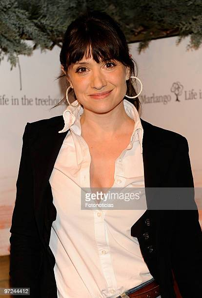 Actress Maria Botto attends the launch of Marlango new album 'Life In The TreeHouse' at the Lara Theatre on March 1 2010 in Madrid Spain