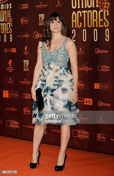 Actress Maria Botto attends 'Union de Actores' awards at the Price Circus on March 29 2010 in Madrid Spain