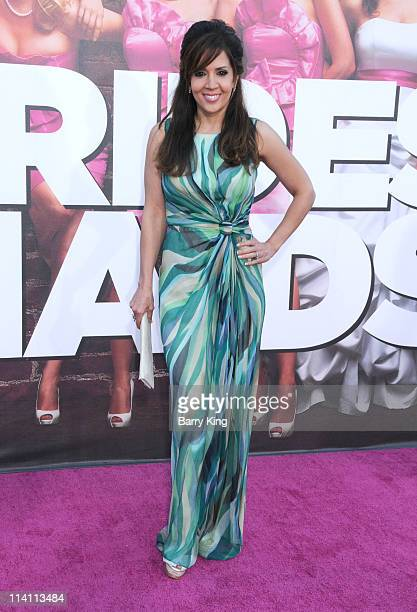 Actress Maria Canals Barrera arrives at the Los Angeles premiere of 'Bridesmaids' held at Mann Village Theatre on April 28 2011 in Westwood California