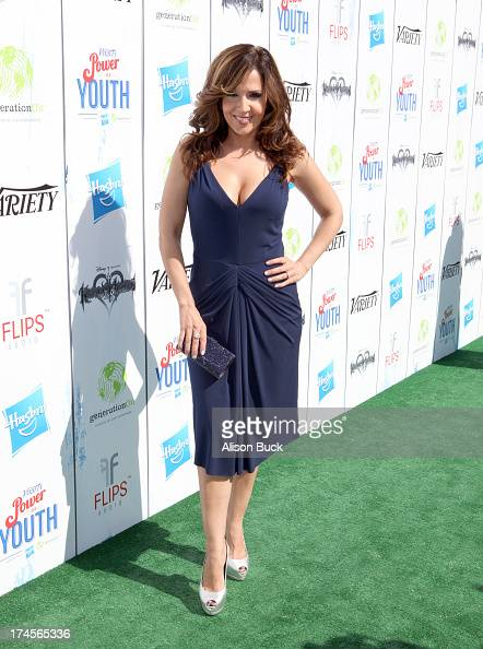 Actress Maria Canals Barrera attends Variety's Power of Youth presented by Hasbro Inc and generationOn at Universal Studios Backlot on July 27 2013...