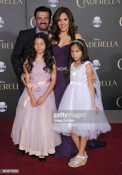 Actress Maria Canals Barrera husband David Barrera daughters Bridget Barrera and Madeleine Barrera arrive at the World Premiere of Disney's...